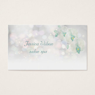 Professional glamourous elegant bokeh orchid business card