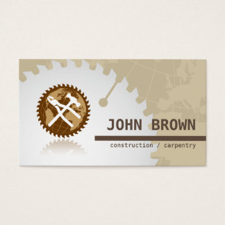 Professional Global Tools Construction Carpentry Business Card