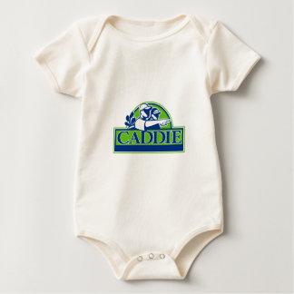 Professional Golfer and Caddie Retro Baby Bodysuit