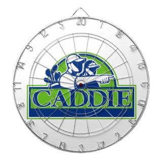 Professional Golfer and Caddie Retro Dartboard