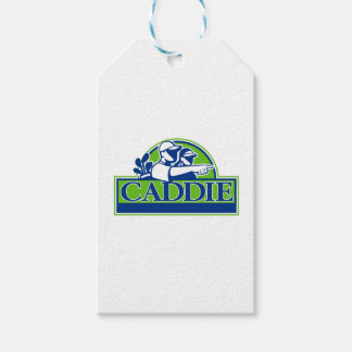 Professional Golfer and Caddie Retro Gift Tags