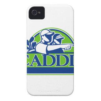 Professional Golfer and Caddie Retro iPhone 4 Case