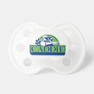 Professional Golfer and Caddie Retro Pacifier