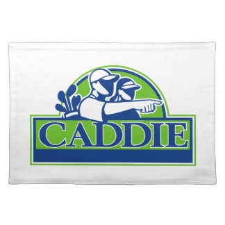 Professional Golfer and Caddie Retro Placemat