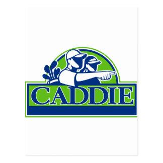 Professional Golfer and Caddie Retro Postcard