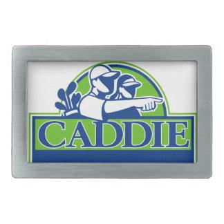 Professional Golfer and Caddie Retro Rectangular Belt Buckle