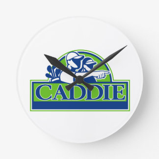 Professional Golfer and Caddie Retro Round Clock