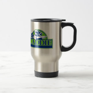 Professional Golfer and Caddie Retro Travel Mug