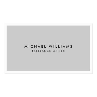 Professional Gray and White Business Card