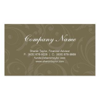 Professional Green Business Card Swirls