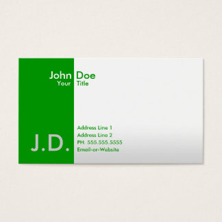 professional greens business card