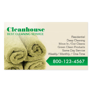 Professional House Cleaning Service Business Card Templates