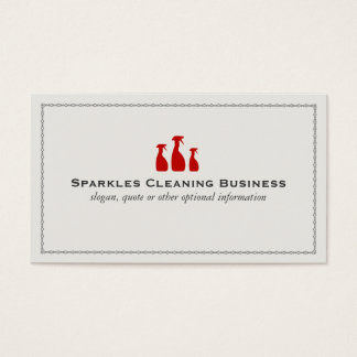 Professional House Cleaning Service Business Card