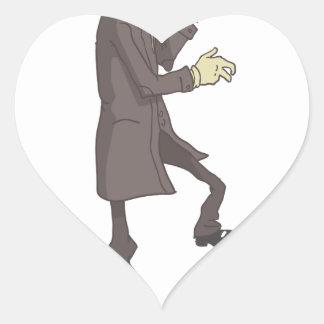 Professional Killer Dangerous Criminal Outlined Heart Sticker
