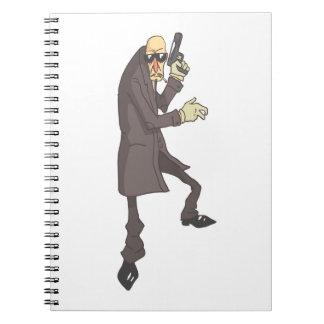 Professional Killer Dangerous Criminal Outlined Notebooks