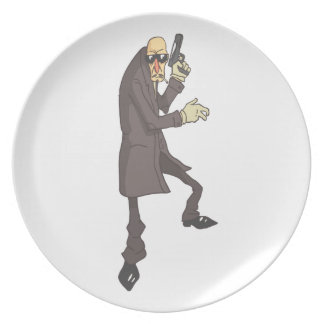 Professional Killer Dangerous Criminal Outlined Plate