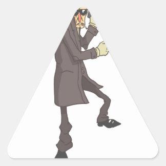Professional Killer Dangerous Criminal Outlined Triangle Sticker
