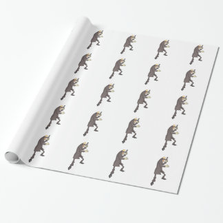 Professional Killer Dangerous Criminal Outlined Wrapping Paper