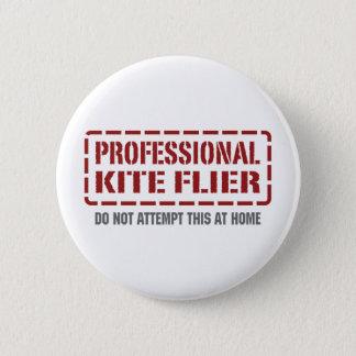 Professional Kite Flier 2 Inch Round Button