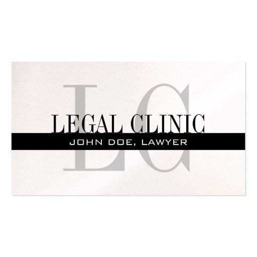 Professional Lawyer Business Card Monogram Logo