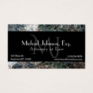 Professional Lawyer Executive Business Card Mono