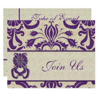 Professional Logo Business Amethyst Swirls Purple Card