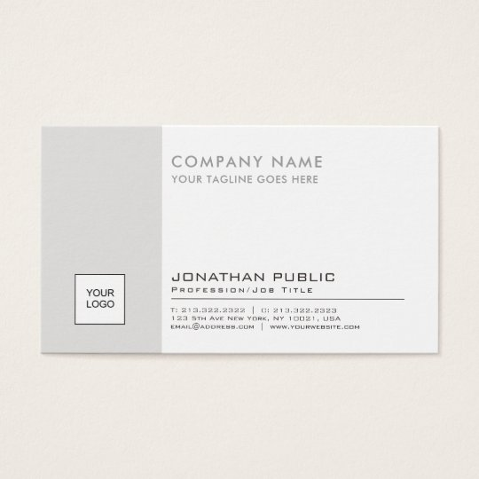 Professional Logo Plain Corporate Modern Elegant Business Card
