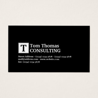 Professional look elegance business card