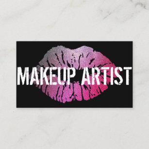 Makeup artist eyelashes beauty salon card business cards business professional makeup artist business card colourmoves