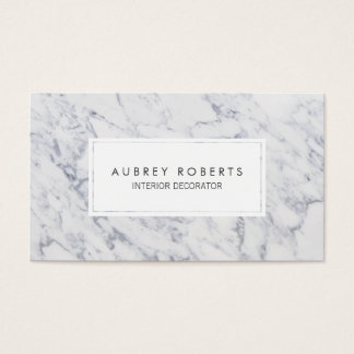 Professional Marble Pattern Modern Elegant Design Business Card