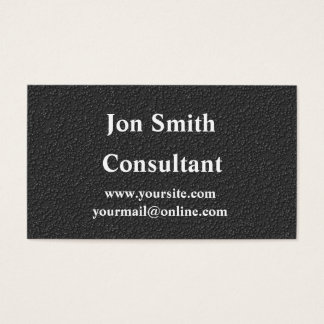 Professional matte black business card