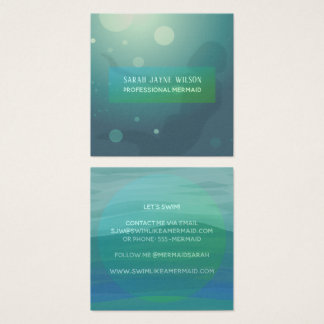 Professional Mermaid Business Cards