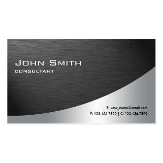 Professional Metal Elegant Modern Plain Black Business Card