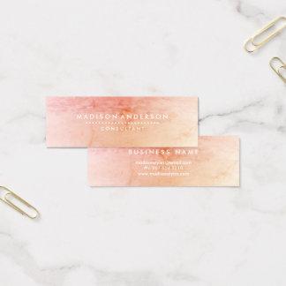 Professional Metal Elegant Modern Plain Silver Mini Business Card