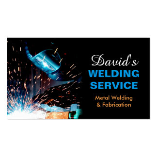 Professional Metal Welding Fabrication Contractor Business Card