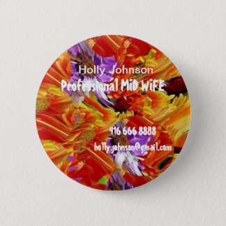 Professional MIDWIFE : Replace Text n Image 2 Inch Round Button