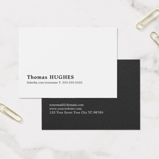 Professional Minimal Black White Consultant Business Card