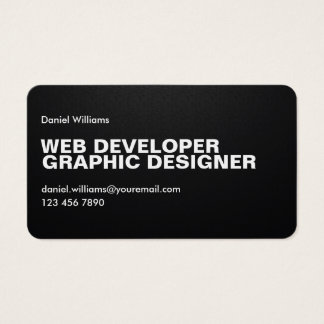 Professional Minimal Unique Pixelated Web Designer Business Card