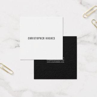 Professional Minimalist Black White Consultant Square Business Card