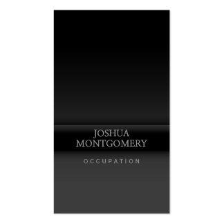 Professional minimalist business card Black Grey