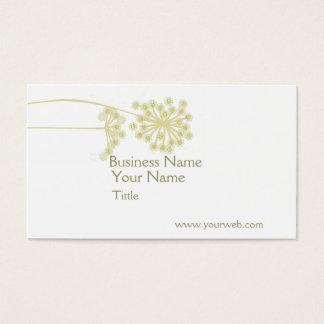 Professional Minimalist Modern Elegant Wild Flower Business Card