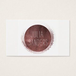 Professional Minimalist Rose Gold Business Card