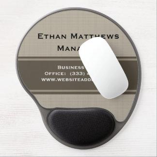 Professional Modern Beige Brown Gel Mouse Pad