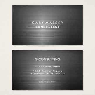 Professional Modern Black Metal Business Card