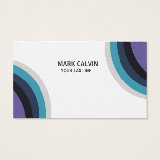 Professional Modern Blue Many colour Business Card