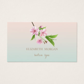 Professional Modern Charming,Cherry Tree Business Card