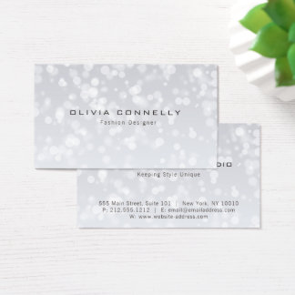 Professional  Modern Elegant Bokeh Business Card