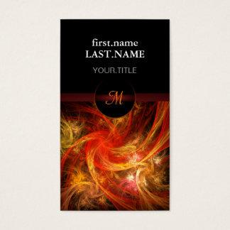 Professional Modern Elegant Cool Firestorm Business Card