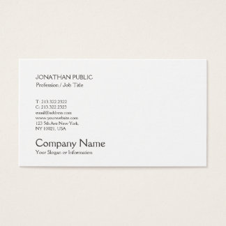 Professional Modern Elegant Creative Smart Plain Business Card