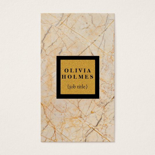 Professional Modern Elegant Marble Business Card